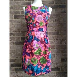 J. Crew Factory Floral Sheath Dress 100% Cotton